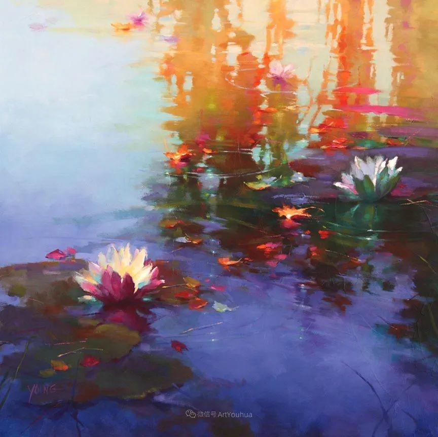 色彩表现浑然天成,她画出了心中的睡莲!德国艺术家唐娜·杨插图53