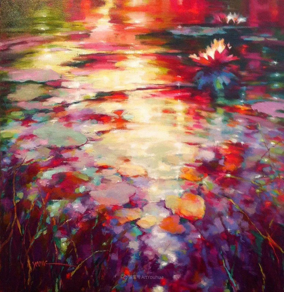 色彩表现浑然天成,她画出了心中的睡莲!德国艺术家唐娜·杨插图55