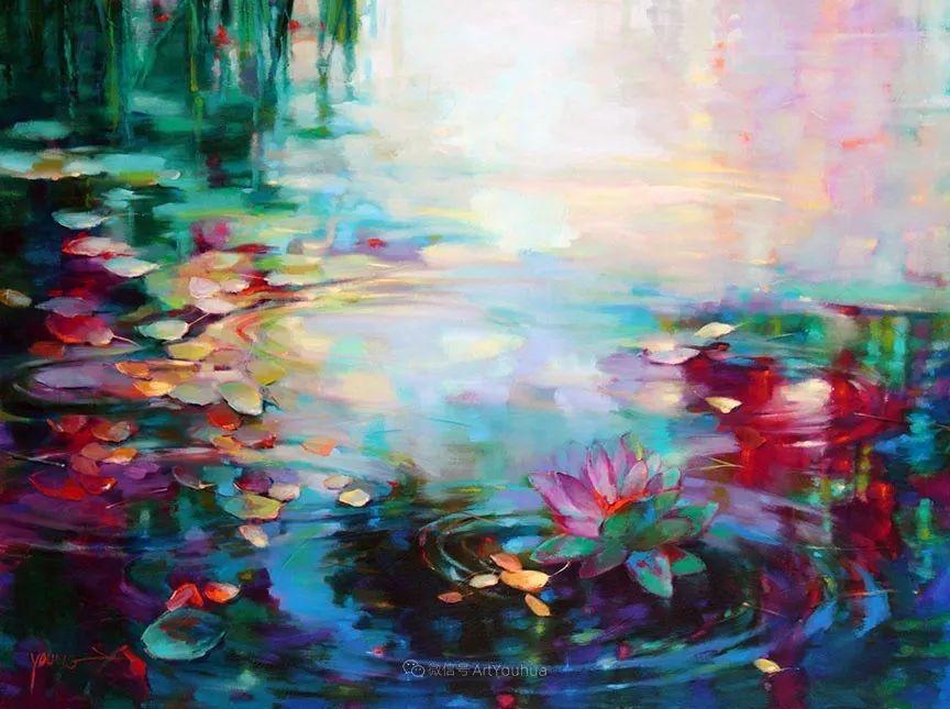 色彩表现浑然天成,她画出了心中的睡莲!德国艺术家唐娜·杨插图57