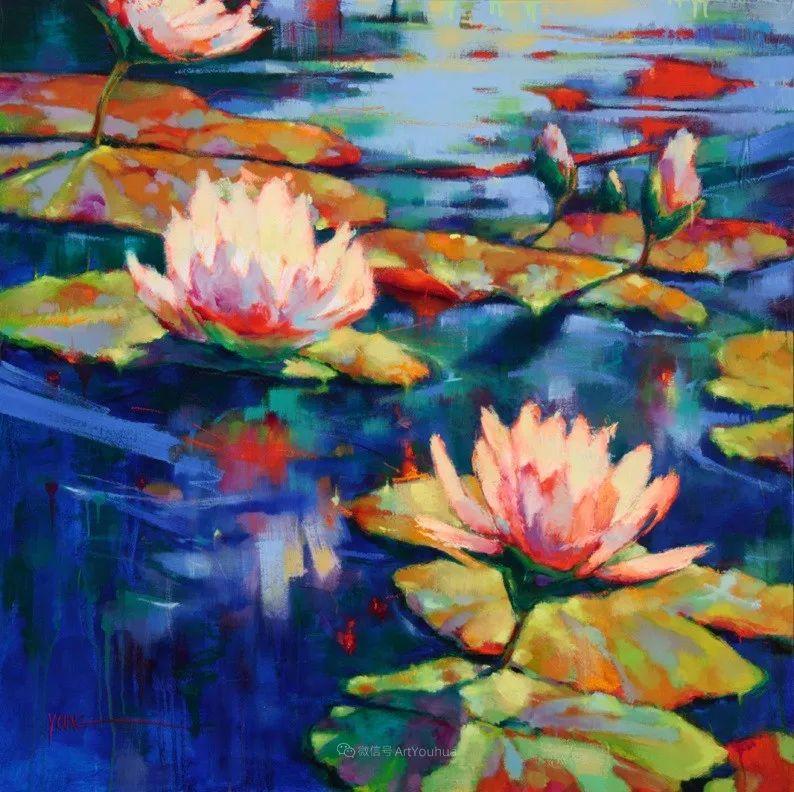 色彩表现浑然天成,她画出了心中的睡莲!德国艺术家唐娜·杨插图59