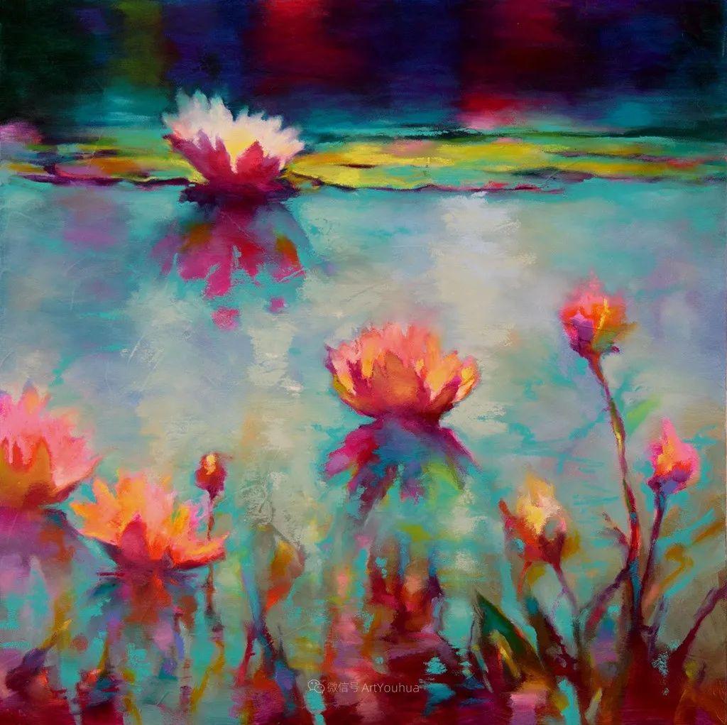 色彩表现浑然天成,她画出了心中的睡莲!德国艺术家唐娜·杨插图61