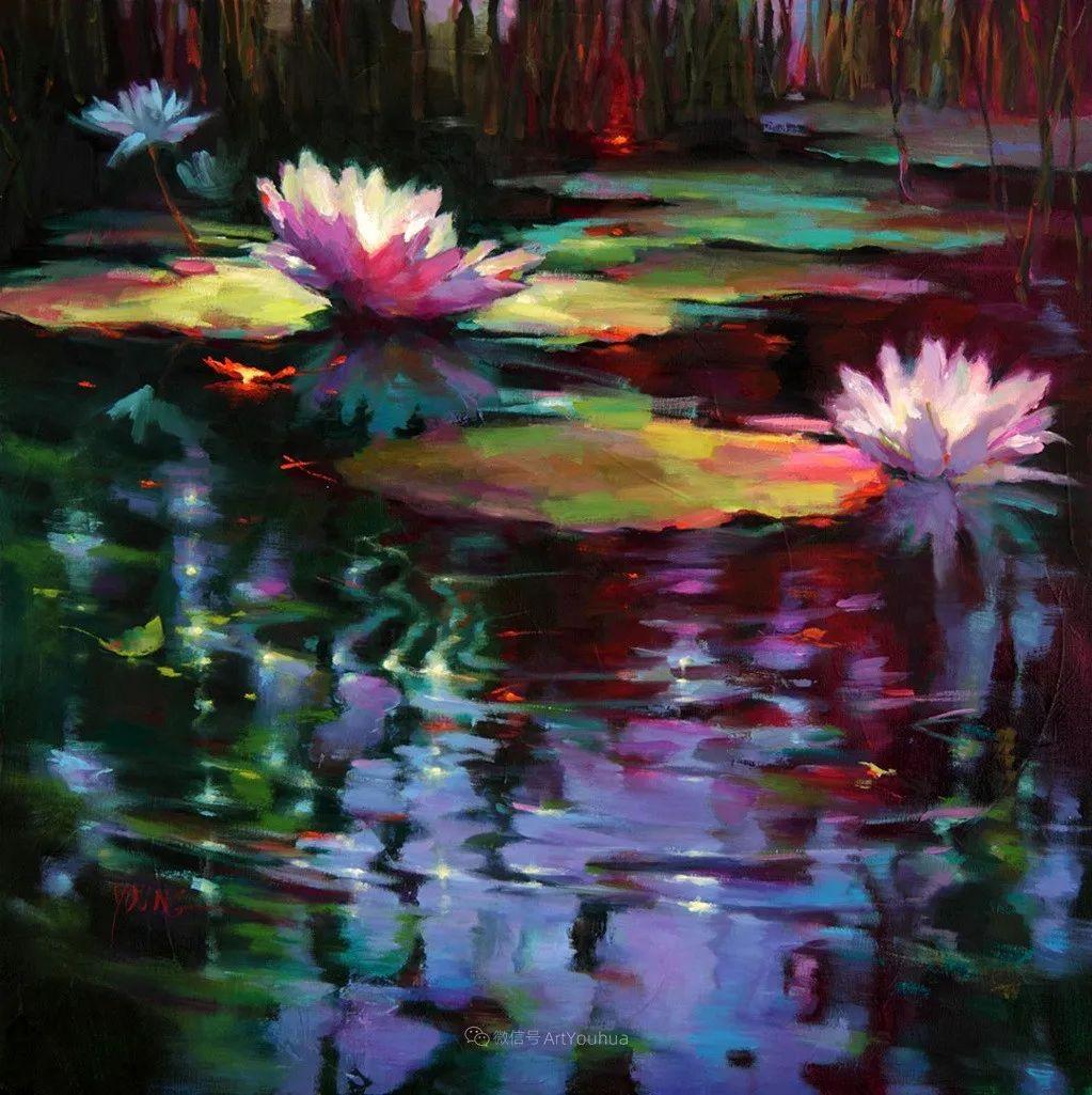 色彩表现浑然天成,她画出了心中的睡莲!德国艺术家唐娜·杨插图63