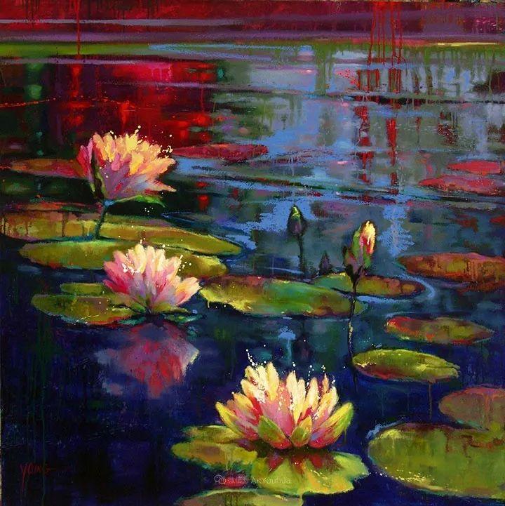 色彩表现浑然天成,她画出了心中的睡莲!德国艺术家唐娜·杨插图65