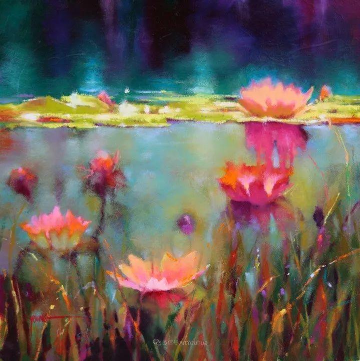 色彩表现浑然天成,她画出了心中的睡莲!德国艺术家唐娜·杨插图67