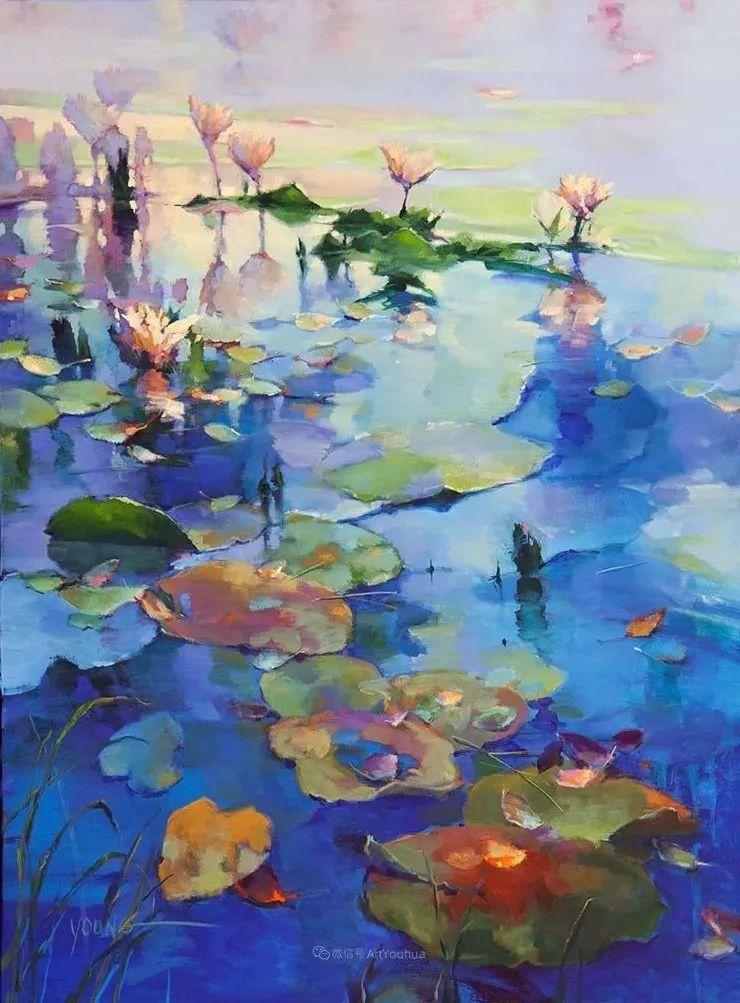 色彩表现浑然天成,她画出了心中的睡莲!德国艺术家唐娜·杨插图69