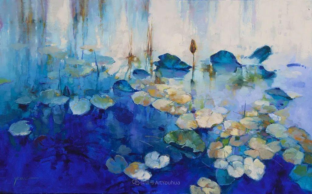 色彩表现浑然天成,她画出了心中的睡莲!德国艺术家唐娜·杨插图71