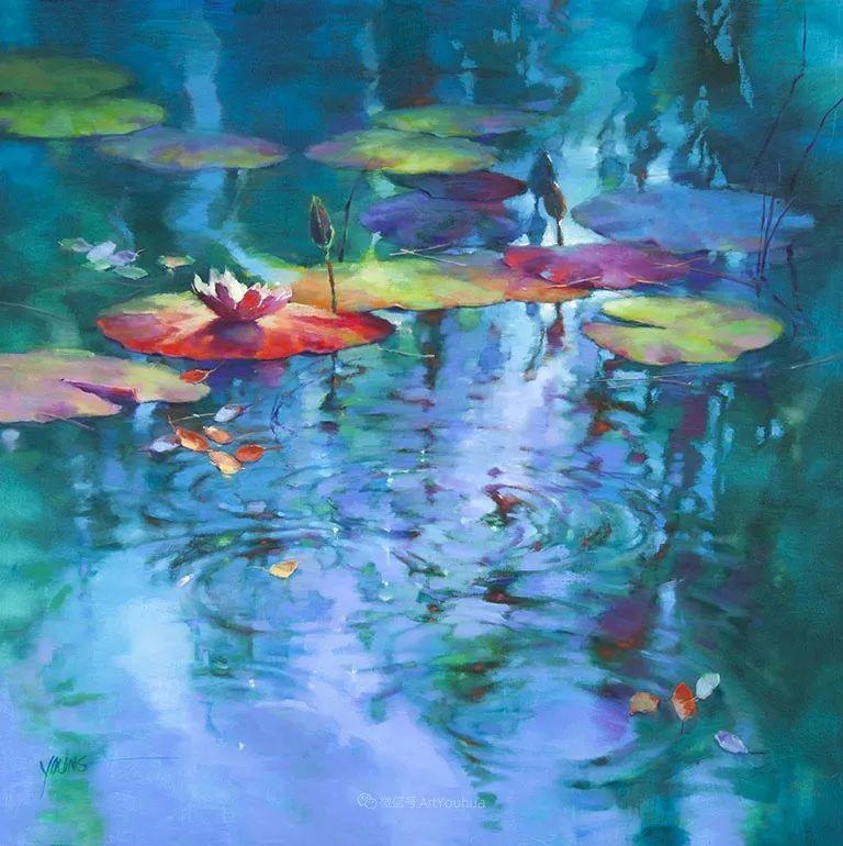 色彩表现浑然天成,她画出了心中的睡莲!德国艺术家唐娜·杨插图75