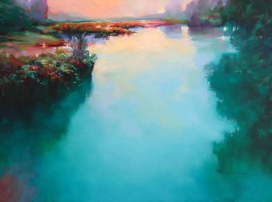 色彩表现浑然天成,她画出了心中的睡莲!德国艺术家唐娜·杨插图77