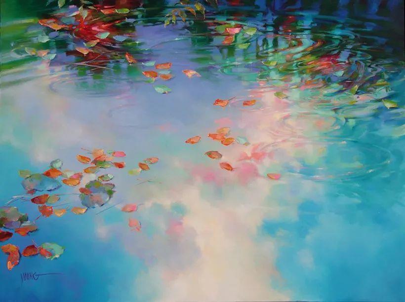 色彩表现浑然天成,她画出了心中的睡莲!德国艺术家唐娜·杨插图79