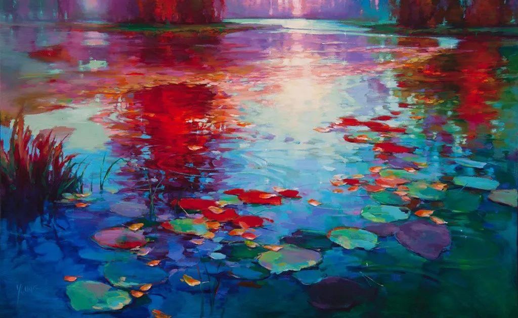 色彩表现浑然天成,她画出了心中的睡莲!德国艺术家唐娜·杨插图81