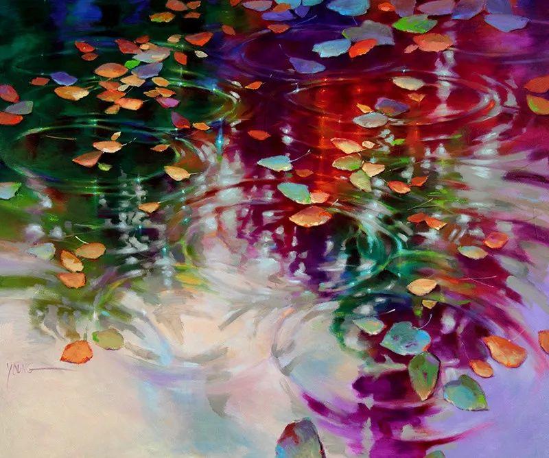 色彩表现浑然天成,她画出了心中的睡莲!德国艺术家唐娜·杨插图83