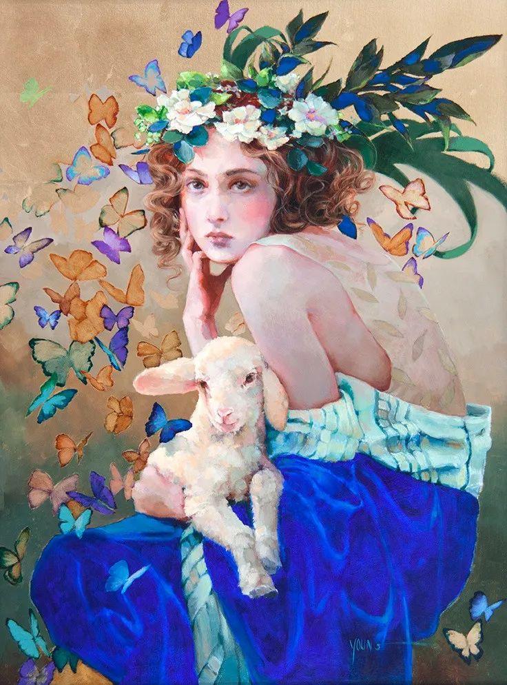 色彩表现浑然天成,她画出了心中的睡莲!德国艺术家唐娜·杨插图91