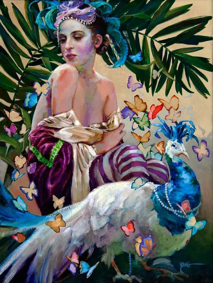 色彩表现浑然天成,她画出了心中的睡莲!德国艺术家唐娜·杨插图95