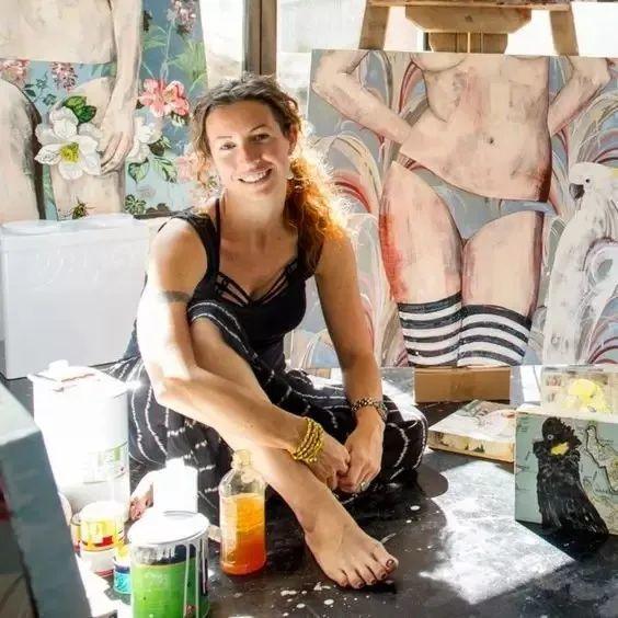 花鸟与女子,澳大利亚艺术家Jessica Watts作品二插图3