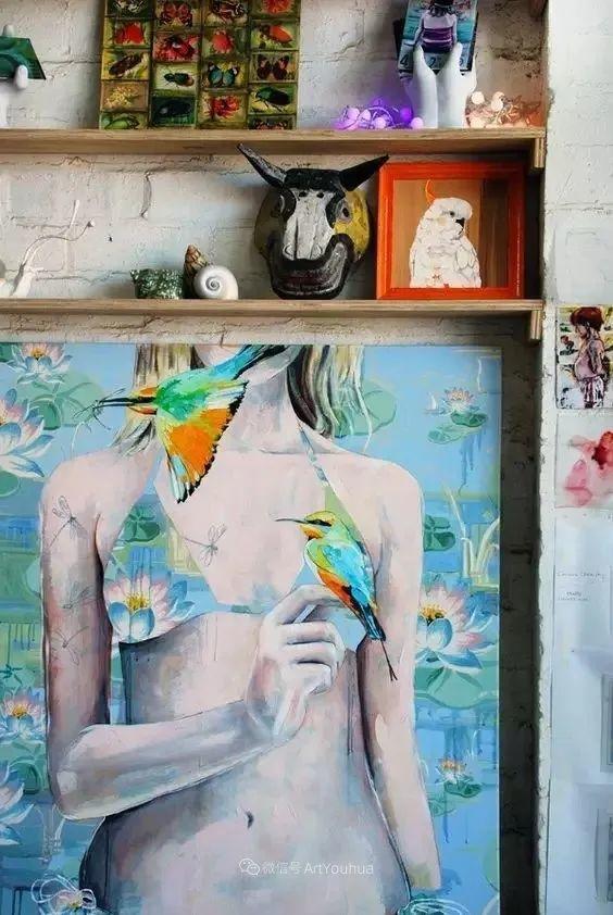 花鸟与女子,澳大利亚艺术家Jessica Watts作品二插图7