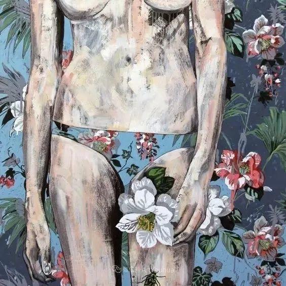 花鸟与女子,澳大利亚艺术家Jessica Watts作品二插图9