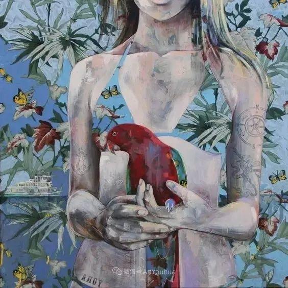 花鸟与女子,澳大利亚艺术家Jessica Watts作品二插图13