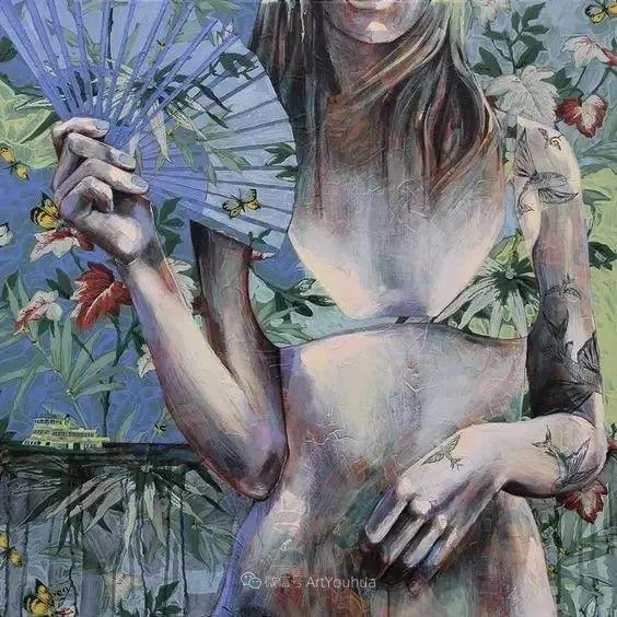花鸟与女子,澳大利亚艺术家Jessica Watts作品二插图15