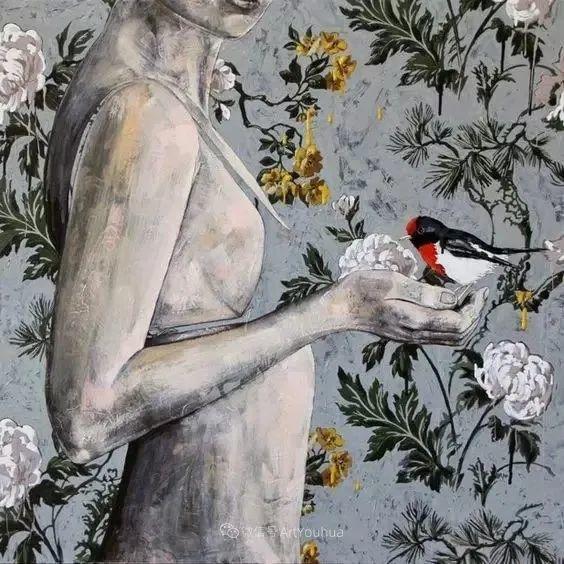 花鸟与女子,澳大利亚艺术家Jessica Watts作品二插图17