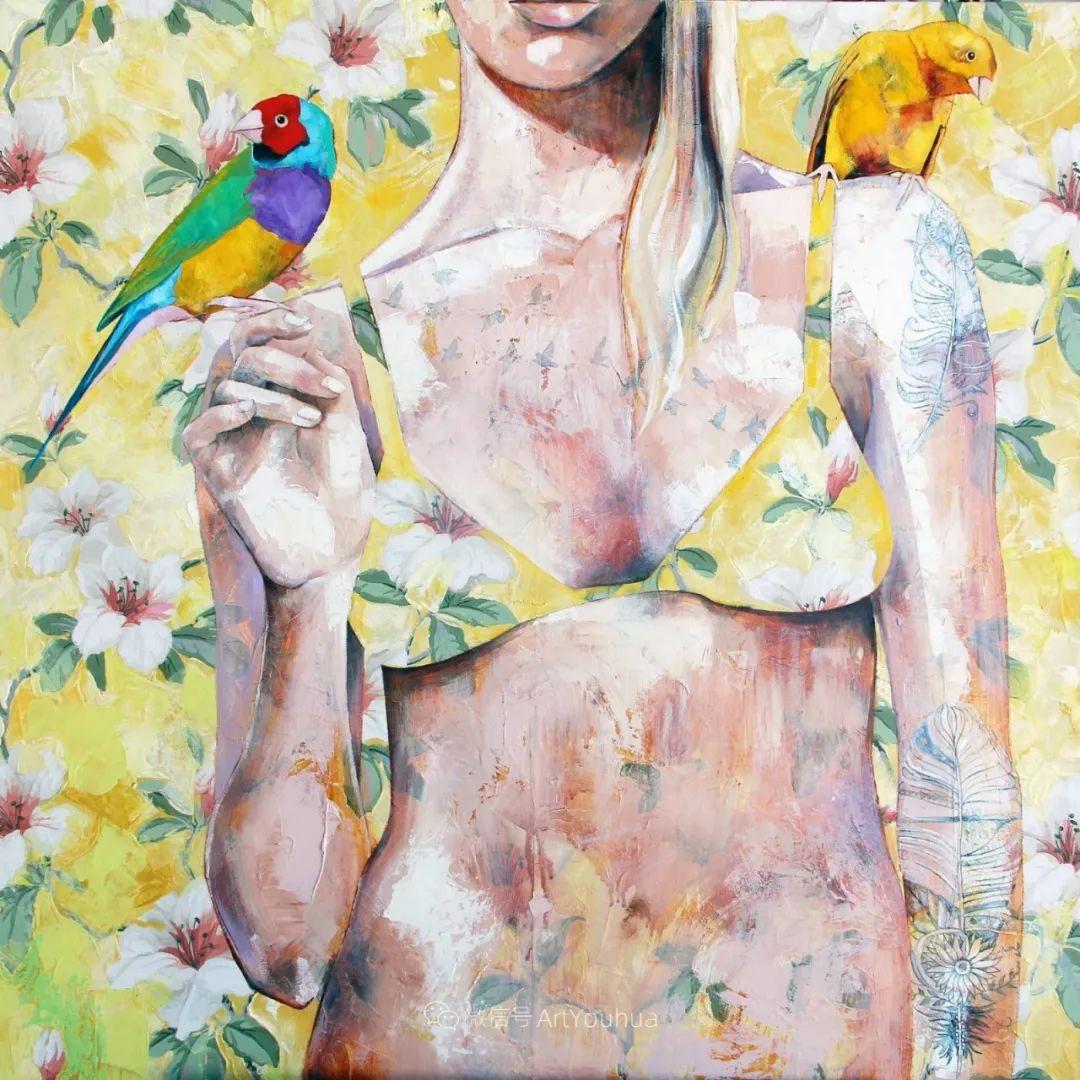 花鸟与女子,澳大利亚艺术家Jessica Watts作品二插图25
