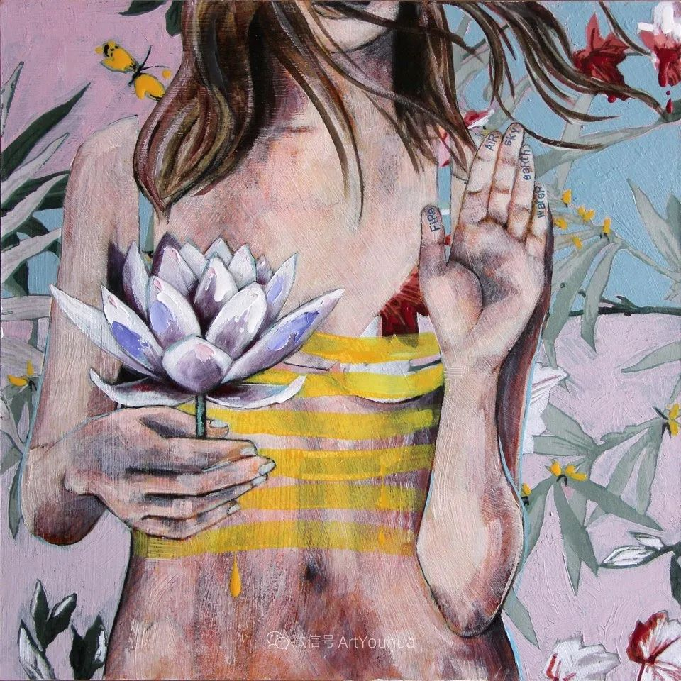 花鸟与女子,澳大利亚艺术家Jessica Watts作品二插图27