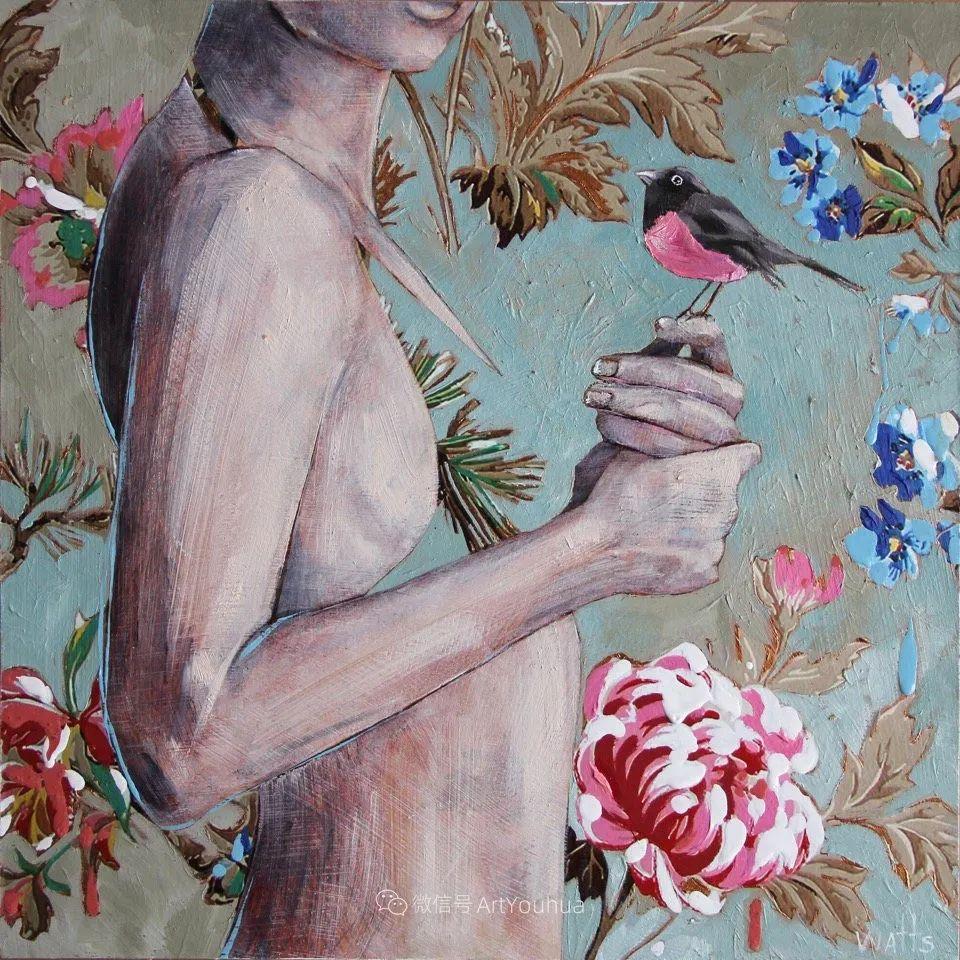 花鸟与女子,澳大利亚艺术家Jessica Watts作品二插图31