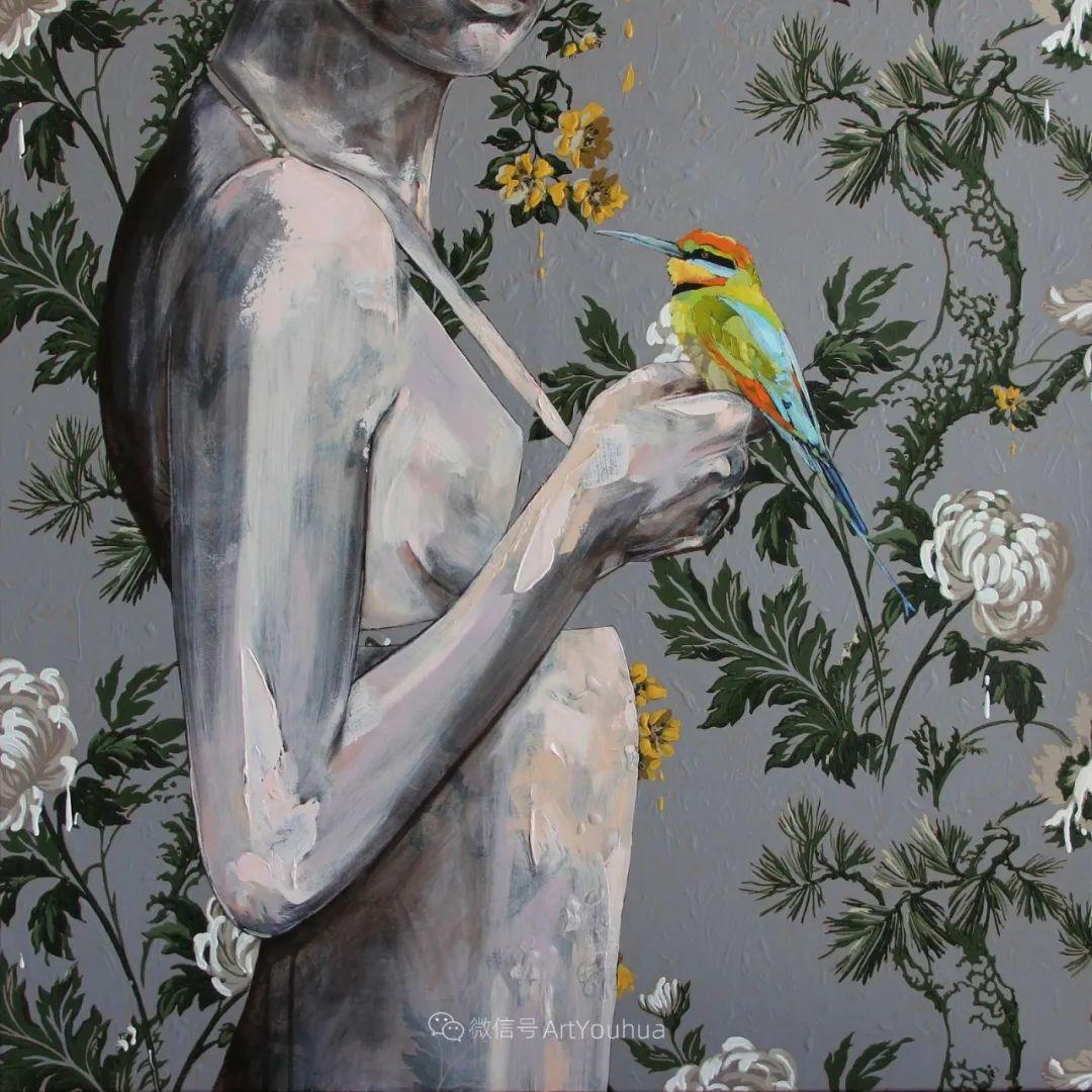 花鸟与女子,澳大利亚艺术家Jessica Watts作品二插图33