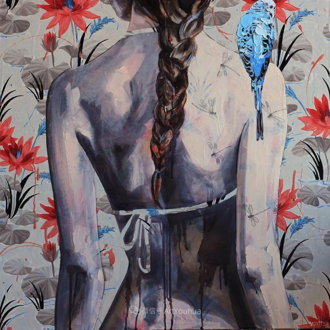 花鸟与女子,澳大利亚艺术家Jessica Watts作品二插图35
