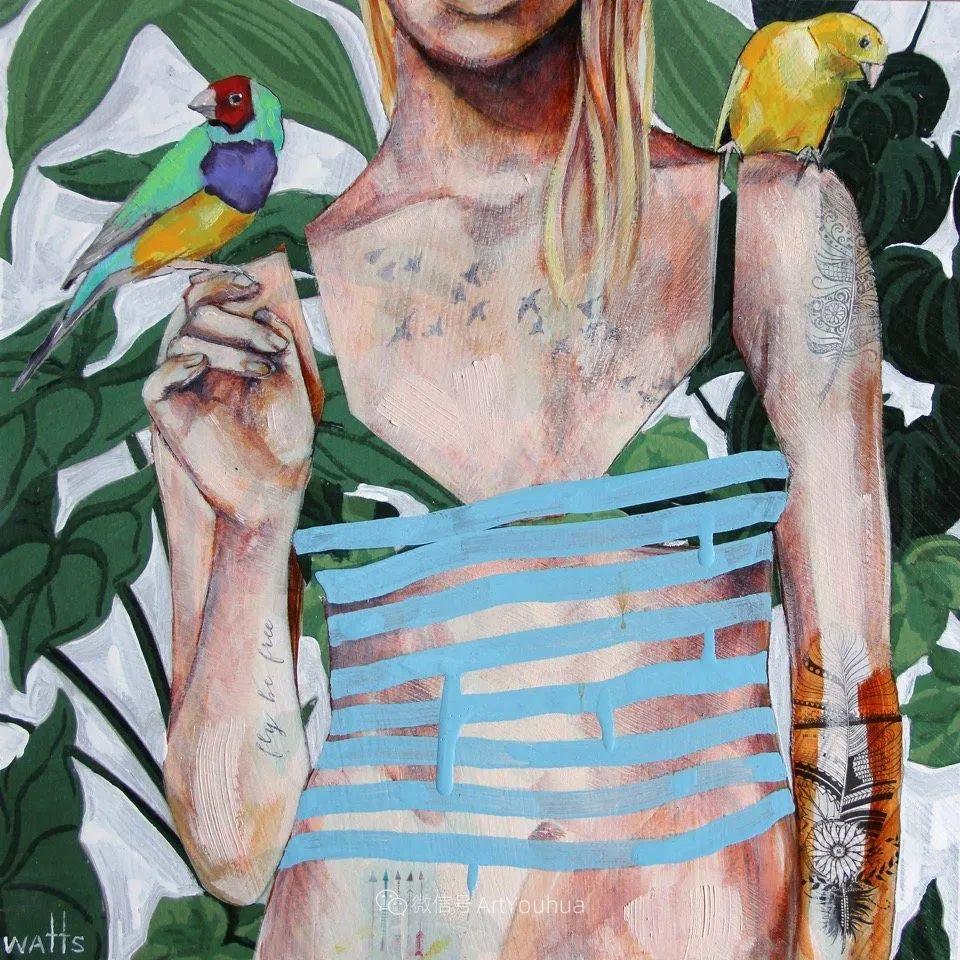 花鸟与女子,澳大利亚艺术家Jessica Watts作品二插图37