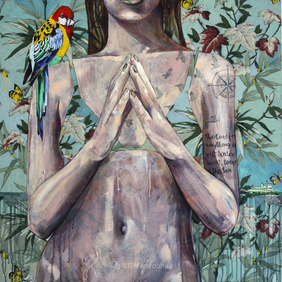 花鸟与女子,澳大利亚艺术家Jessica Watts作品二插图39