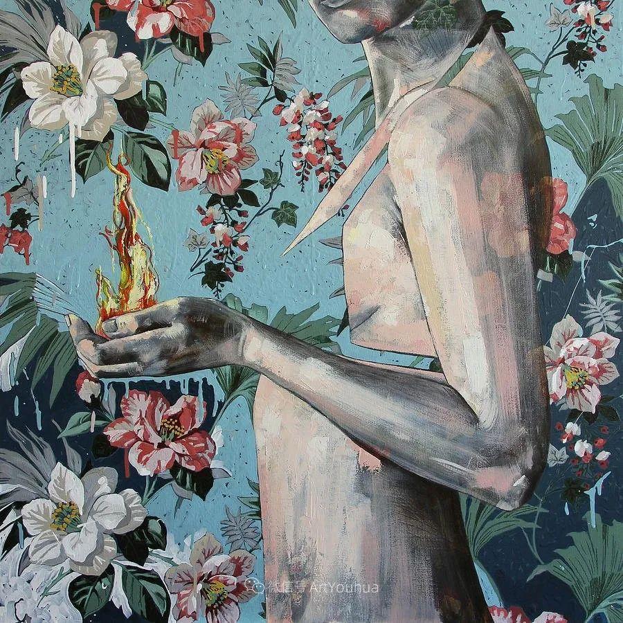 花鸟与女子,澳大利亚艺术家Jessica Watts作品二插图41