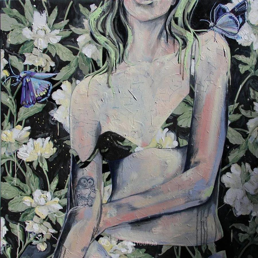 花鸟与女子,澳大利亚艺术家Jessica Watts作品二插图43