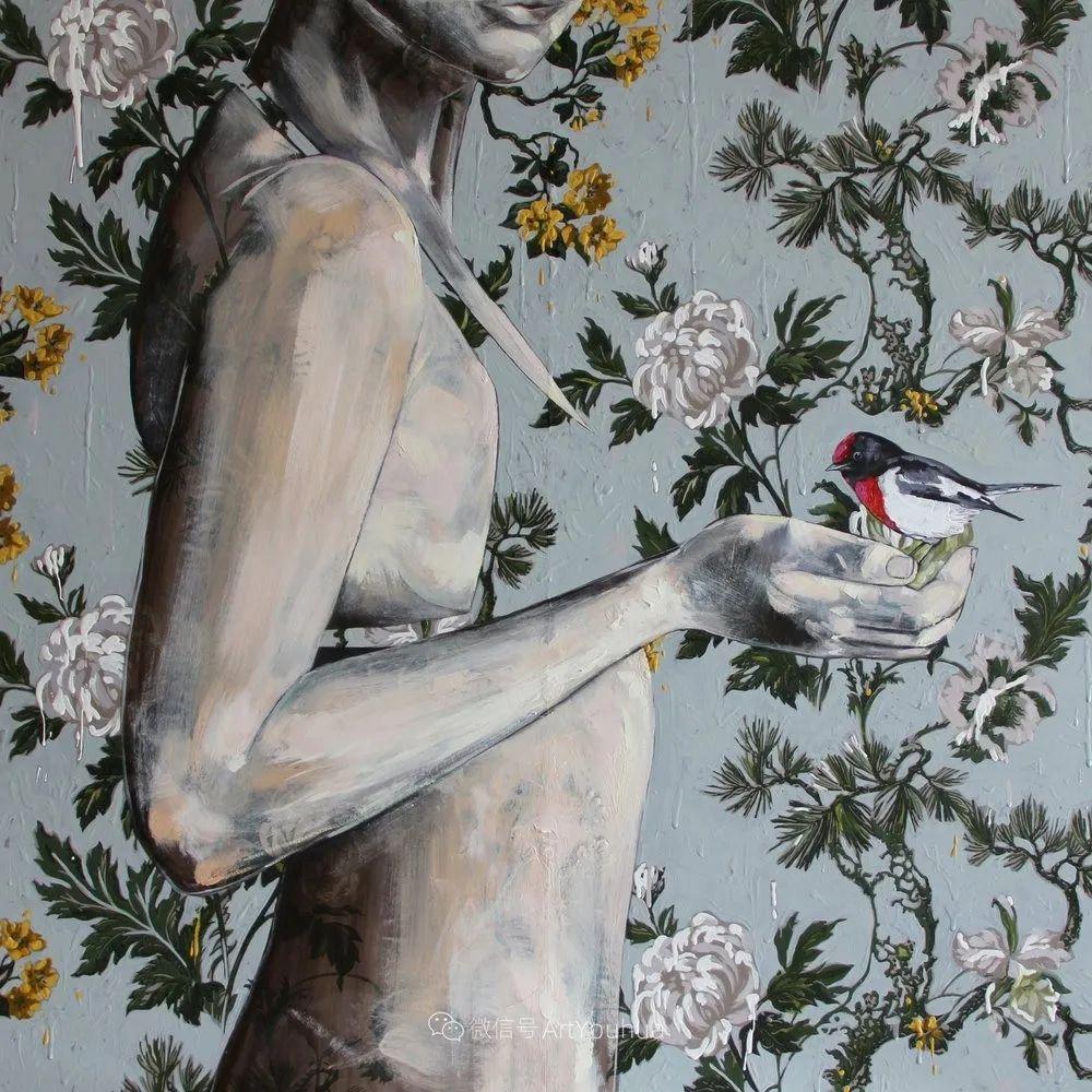 花鸟与女子,澳大利亚艺术家Jessica Watts作品二插图45