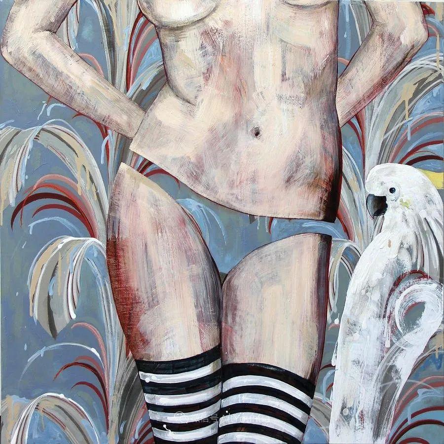 花鸟与女子,澳大利亚艺术家Jessica Watts作品二插图47