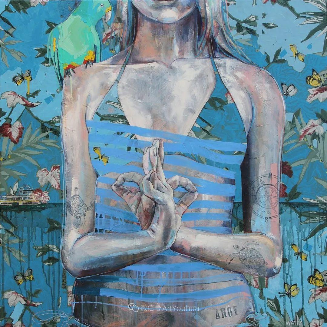 花鸟与女子,澳大利亚艺术家Jessica Watts作品二插图49