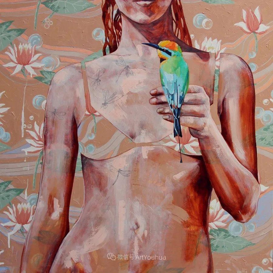 花鸟与女子,澳大利亚艺术家Jessica Watts作品二插图53
