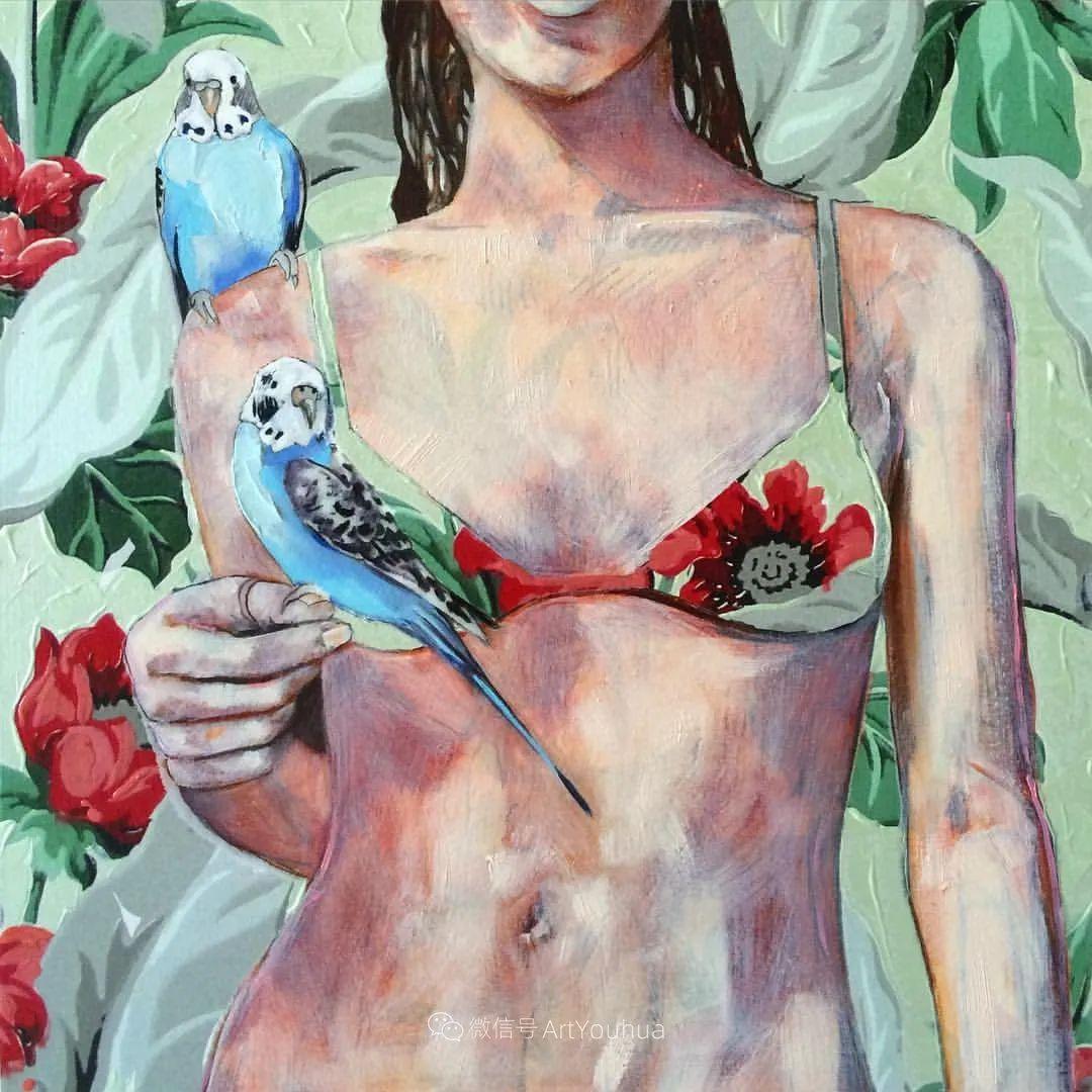 花鸟与女子,澳大利亚艺术家Jessica Watts作品二插图55