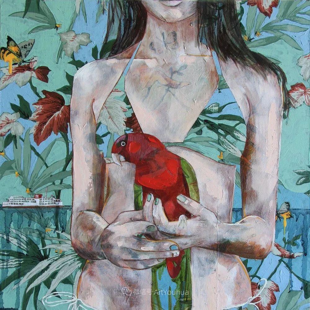 花鸟与女子,澳大利亚艺术家Jessica Watts作品二插图57