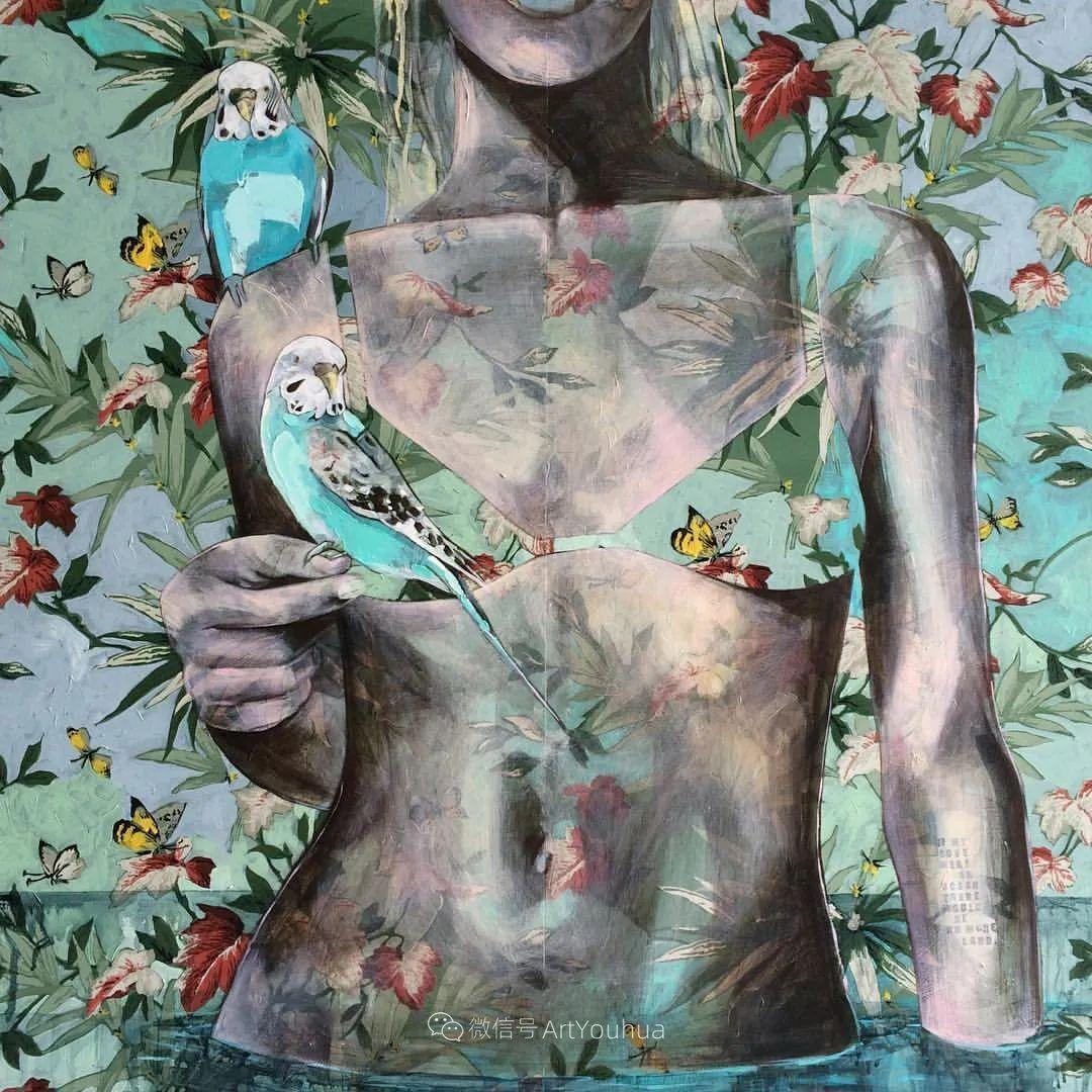 花鸟与女子,澳大利亚艺术家Jessica Watts作品二插图59