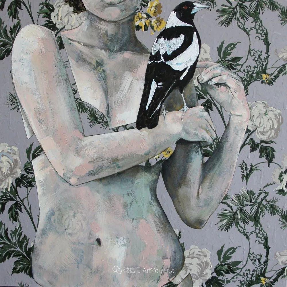 花鸟与女子,澳大利亚艺术家Jessica Watts作品二插图61