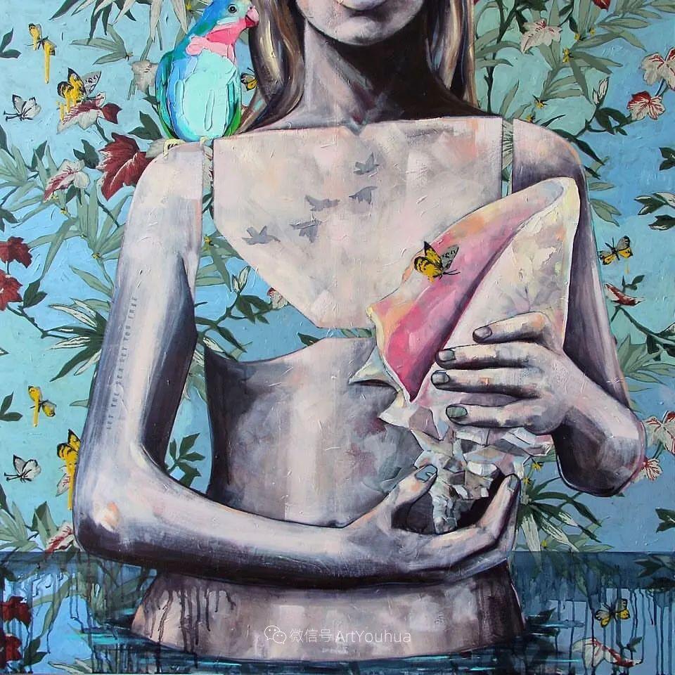 花鸟与女子,澳大利亚艺术家Jessica Watts作品二插图65