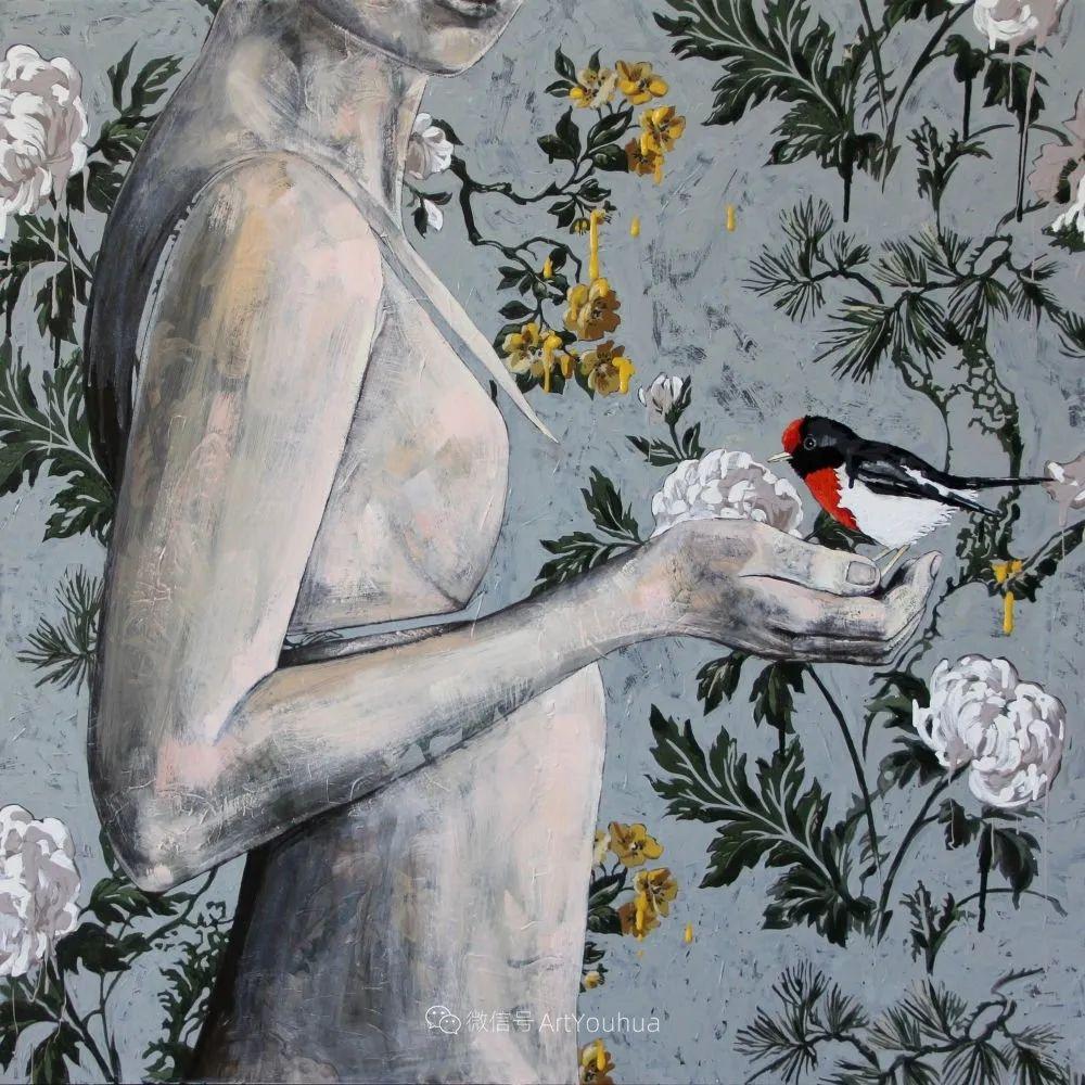 花鸟与女子,澳大利亚艺术家Jessica Watts作品二插图67