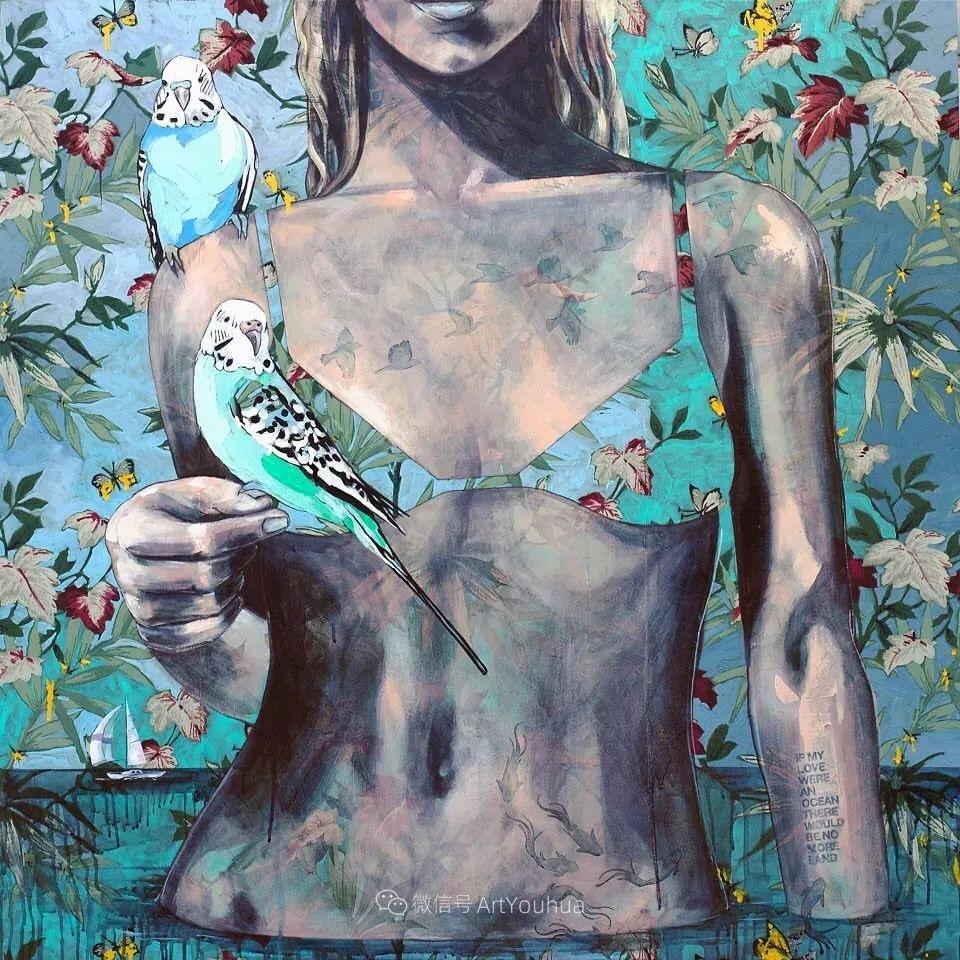 花鸟与女子,澳大利亚艺术家Jessica Watts作品二插图69