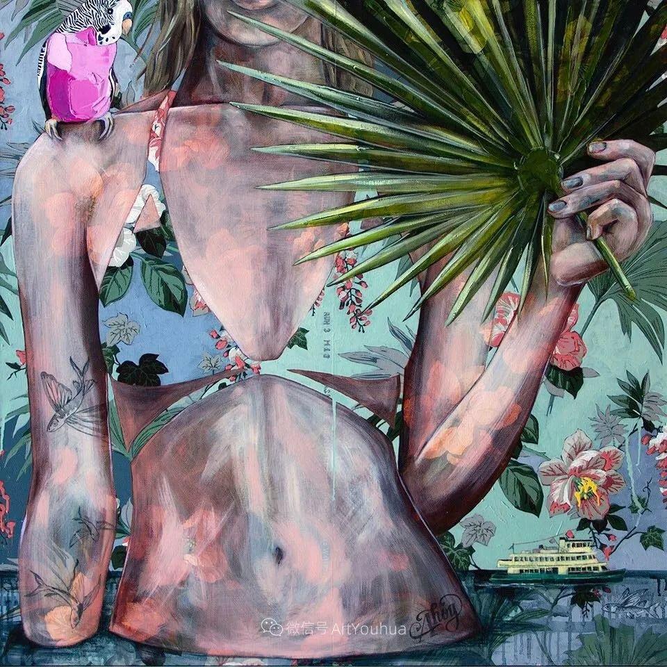 花鸟与女子,澳大利亚艺术家Jessica Watts作品二插图71