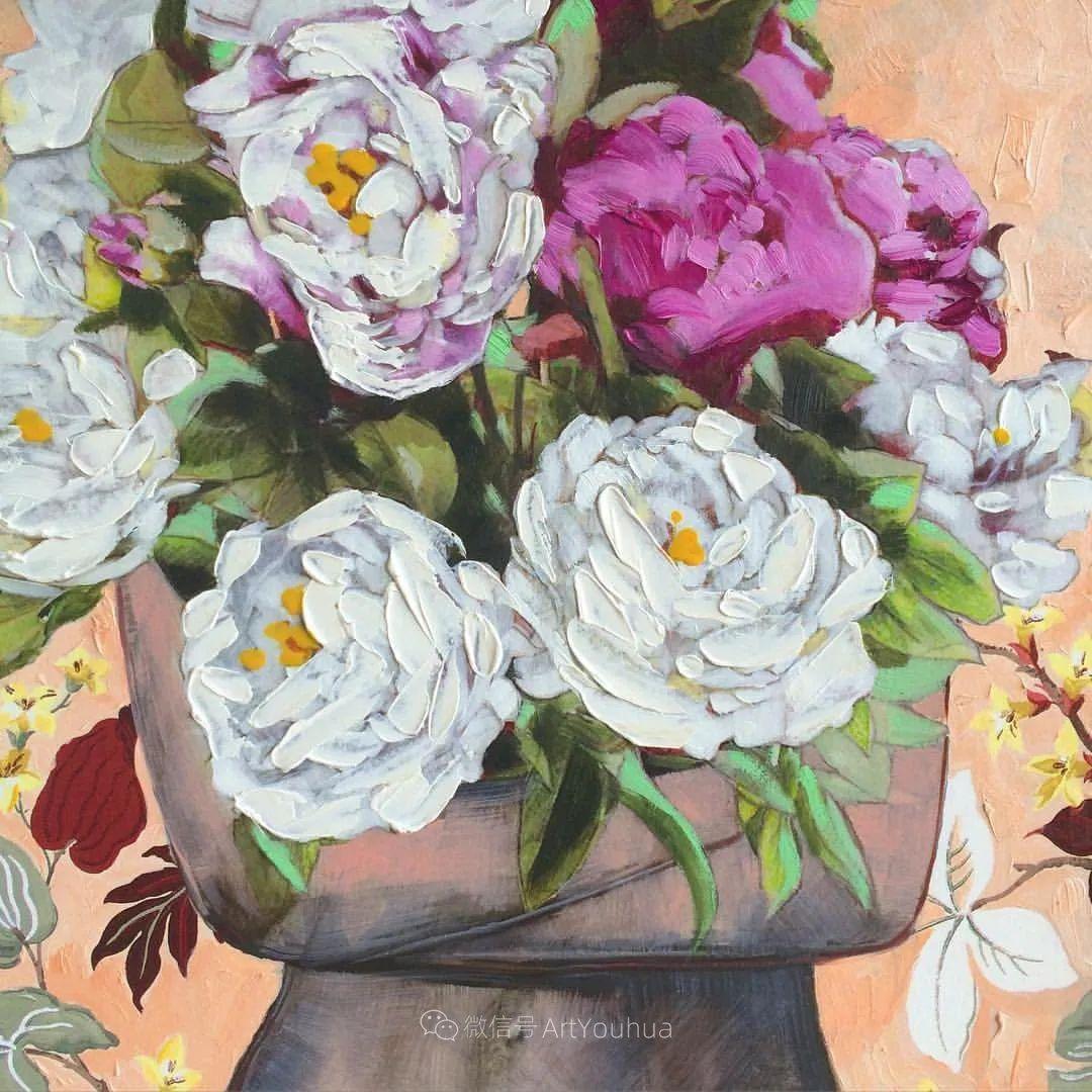 拥抱鲜花的女子,澳大利亚艺术家杰西卡·沃茨插图18