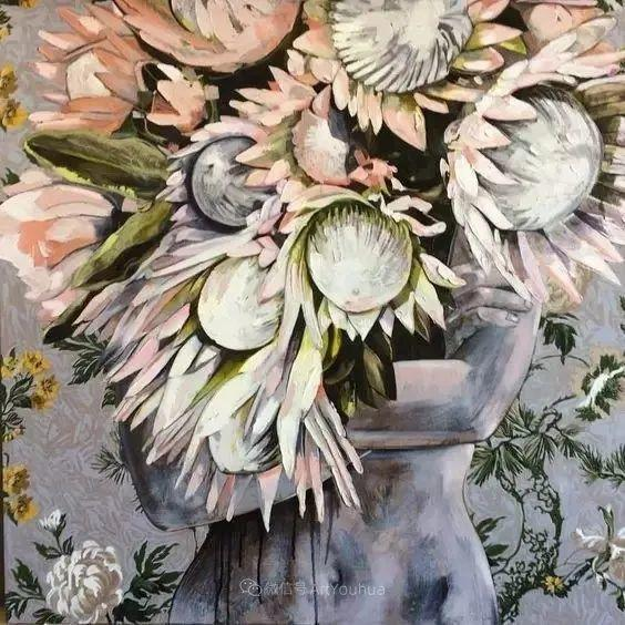 拥抱鲜花的女子,澳大利亚艺术家杰西卡·沃茨插图21