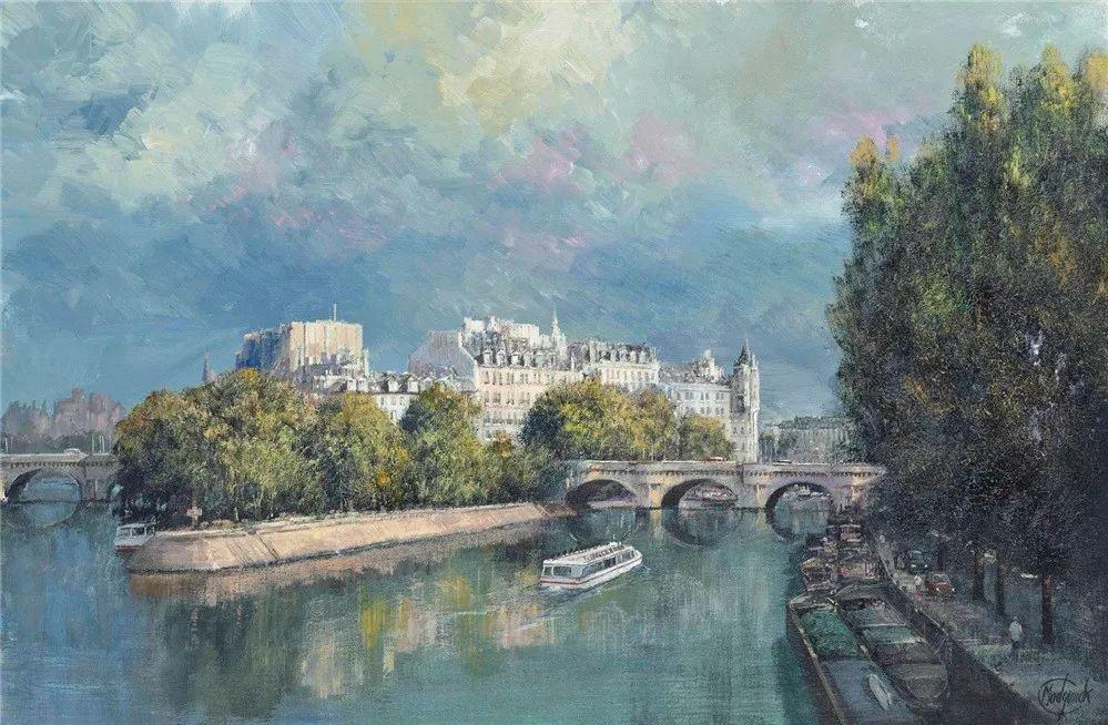 建筑风景,英国艺术家克莱夫·麦格威克插图