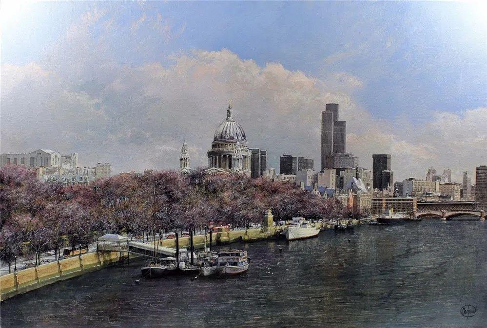 建筑风景,英国艺术家克莱夫·麦格威克插图5
