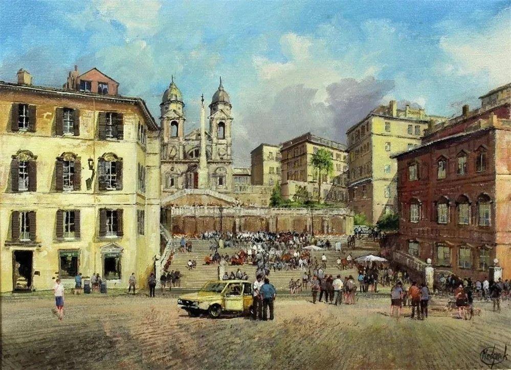 建筑风景,英国艺术家克莱夫·麦格威克插图21