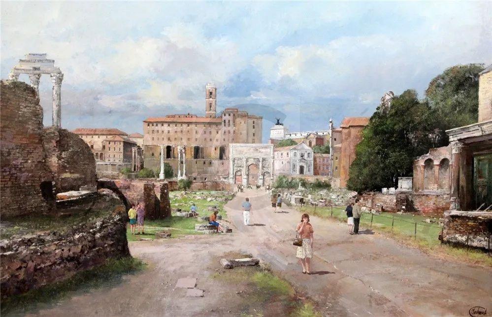 建筑风景,英国艺术家克莱夫·麦格威克插图24